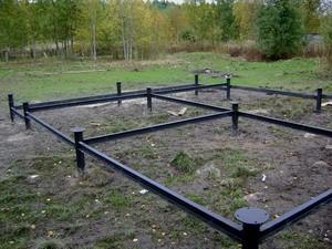 Фундамент для болотистого грунта